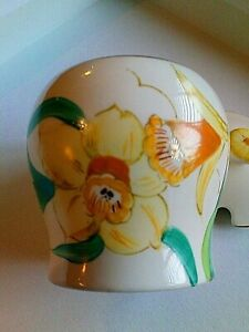 Stylish Art Deco Susie Cooper Grays Pottery Preserve Pot Daffodils Liner Mark