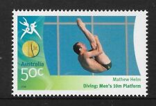 AUSTRALIA 2006 COMMONWEALTH GAMES DIVING Men's Mathew Helm 10m Platform 1v MNH