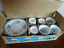 Espresso Mini Cup and Saucers Classic Coffee Design  Set of 6