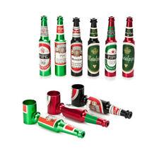 Beer Bottle Pipe Smoking Tobacco Herb Metal Aluminum Portable Small Pocket Mini