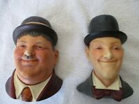 Laurel & Hardy Wall Hanging Busts