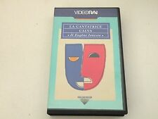 LA CANTATRICE CALVA - EUGENE IONESCO - VHS VIDEORAI 1967 PAL - BUONE COND.V32
