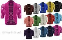 WOMENS NEW LADIES BOLERO SHRUG CROCHET KNITTED CARDIGAN TOP PLUS SIZE 8-24