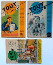 """lot de 5 numéros du  magazine """"Tout Systeme D"""" n° 35 - 60 - 61 - 77 - 80 - 156"""