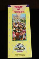 Disneyland 60 Years with Mickey Mouse 1988 Walt Disney Main Gate Brochure