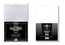 300 CBG Resealable 11 x 17 Art Print 2-mil Poly Bags + Acid Free Backer Boards