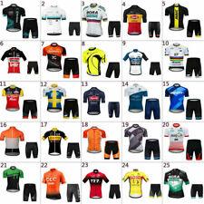 2020 Mens Road Bike Team Clothing Short Sleeve Jersey Shorts Kits Riding Outfits