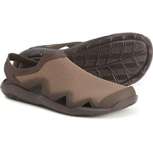 New Men`s Crocs SwiftWater Mesh Wave Clogs Standard Fit 205701