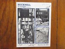 1978 Bucknell College Football Program(37 Sign/BOB  CURTIS/GLYN  LIPP/JIM TOMEO)