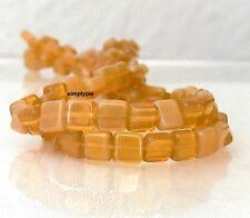 Caramel Opal Czech Glass Beads 6mm Tile 25