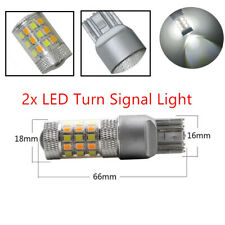 2pcs T20 7443 Premium Grade SMD Dual Color White/Amber Car LED Turn Signal Light
