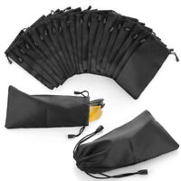 5/10/20Pcs Microfiber Pouch Carry Bag For Sunglasses Eyeglasses Lanyard Cloth~