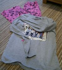 Girls One Direction 1D pyjamas 9-10 yrs pink grey cotton