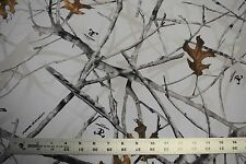 """500D OUTDOOR CORDURA HUNTING CAMO FABRIC 60""""W TRUE TIMBER CONCEAL SNOW WHITE DWR"""
