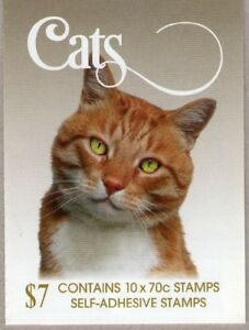 """2015 AUSTRALIAN STAMP BOOKLET CATS - """"BUBU"""" - 10 x 70c STAMPS MUH"""