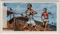 1956 Olympics 200 Meters Gold Medal Morrow USA  Vintage Trade Ad Card
