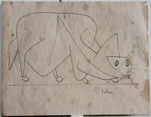 Ink drawing signed PAUL KLEE