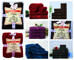 8 Pcs 100% Egyptian Combed Cotton Luxury Towel Bale Set Extra Soft & Absorbent