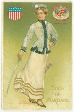 Maryland, State of Maryland, Woman with Saber 1907