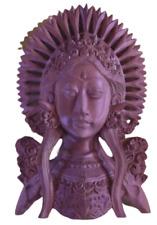 Ancienne Statue sculpture Art ethnique Asie Divinité Indienne 1970 Vintage