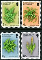 GUERNSEY 1975 FERNS SET OF ALL 4 COMMEMORATIVE STAMPS MNH (v)