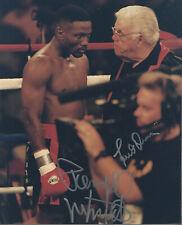 Pernell Whitaker Lou Duva Autographed 8x10 Photo JSA COA