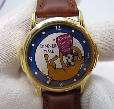 """DOG,Puppy,""""Eating Food"""" Animated 3D Dial,Dog Lover, ADULT UNISEX WATCH,M-45 L@@K"""