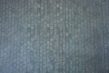 Dolls House 1/12th Scale Grey Slate Wall paper -Roofing, Cobbles or Paths