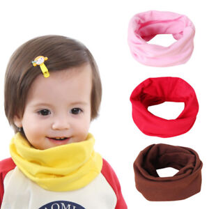 Children's Baby Lovely Variety Cotton Scarf Wraps O Ring Neck Warmer Scarves 1PC