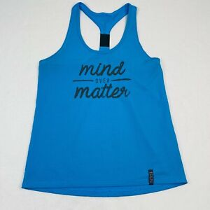Under Armour Womens Active Tank Top Size M Blue Mind Over Matter Graphic Print
