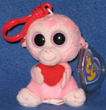 TY JULEP the MONKEY KEY CLIP - BEANIE BOOS - MINT with MINT TAGS