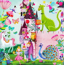 Mila Marquis Postkarte*Schloss*Prinzessin*Einhorn Drache Fee Prinz 14x14 Glitzer