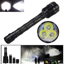 VASRFIRE 3800Lm 3x CREE XM-L T6 LED Lámpara Linterna Torch Flashlight 5modes