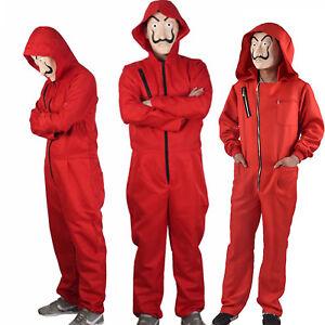 Salvador Dali La Casa De Papel Costume Money Heist Jumpsuit Mask Cosplay Outfits