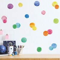 Watercolor Dot Wall Sticker Easy To Paste PVC Baby Children Room Decal Decor DIY