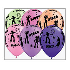 Party Supplies Birthday Decorations 70's Disco Neon Balloons Pk 10