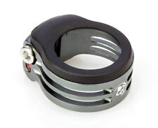 Light Weight Alloy Seat Clamp oval hole for carbon frame Ø31.8 FOURIERS Gray