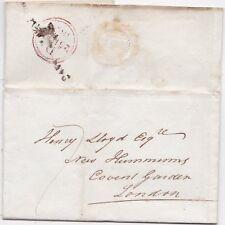 * c.1827 pre-TIMBRO Wrapper a nuovi SUDATORI un London Coffee HOUSE COVENT GARDEN