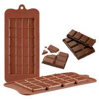 Silicone Chocolate Mould Bar Break Apart Choc Block Ice Tray Cake Bake Mold G