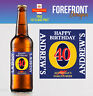 Personalised Beer/Lager Spoof bottle labels - Perfect Birthday Gift