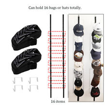 2x Hat Rack Baseball Cap Hat Holder Rack Organizer Storage Door Closet Hanger US