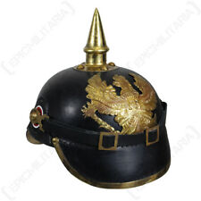 WW1 German / Prussian Leather Pickelhaube - Repro Army Soldier Helmet Hat New