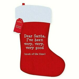 CHRISTMAS STOCKING Xmas 52 Cm   I'Ve Been Very Good Home Collection UK Free