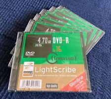 6 Stück LightScribe DVD Rohlinge von Intenso ? 16x  ?  4,7 GB ? DVD-R ? OVP