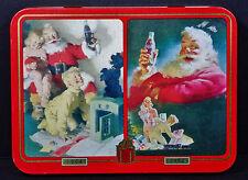 New 2 decks Coca-Cola Playing Cards 1996 Christmas Coke Xmas Tin Box