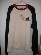 Lucky Brand Vintage Inspired cream, navy, burgundy LS sweat shirt NWT XXL