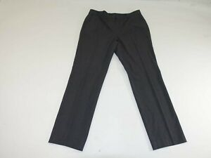 Ann Taylor Women's Ann Fit Dress Pants Size 12 x 31 Dark Gray Flat Front Slacks