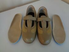 Drew Mary Jane Orthopedic Shoes 9.5 WIDE Tan Leather Diabetic 14385~~CLEAN