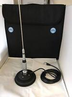 CB Magnetic Base Mag Mount Antenna Sirio HP 2070 H Dualband VHF UHF 2m 70cm Band