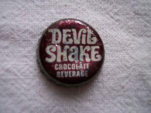 DEVIL SHAKE SODA BOTTLE CAP USED CORK BACK SEDALIA MO PEPSI COLA BOTTLER POP CAP